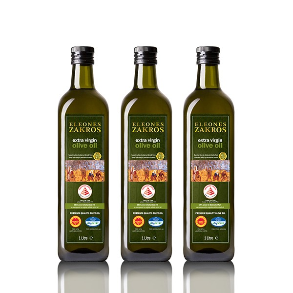 Eleones Zakros Extra Virgin Olive Oil 3 x 1L Bundle