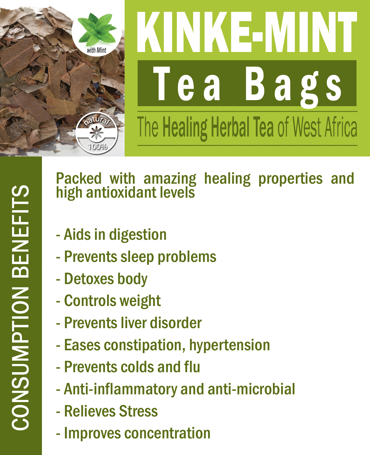 Kinke-Mint Tea Bags Benefits